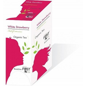 Ceai Organic Original First Tea White Strawberry (35 plicuri)