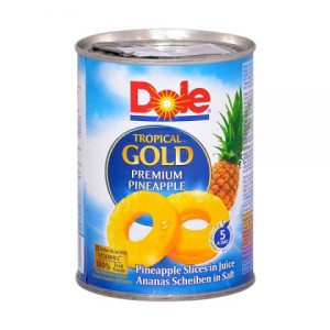 Felii de Ananas in Suc Tropical Gold Dole 567 gr