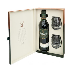 Whisky Glenfiddich 12 ani 0.7 L + 2 Pahare