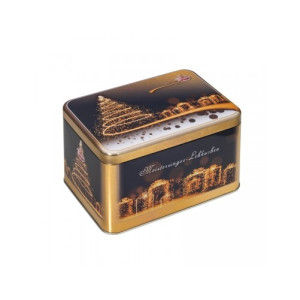 Turta Dulce in Cutie Metalica Wicklein Christmas Tree 400 gr